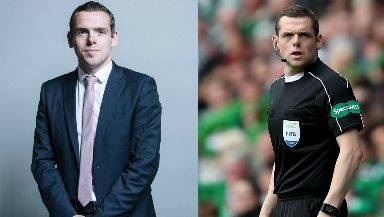 Two jobs: Douglas Ross works as both an MP and a football linesman.