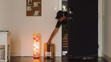 Users can watch remotely as their package is delivered.