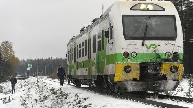 Finland: Police at the crash scene.