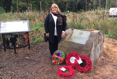 Janet Shankland-Huggins: Granddaughter flew in for special commemorative ceremony.