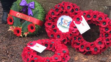 War hero: Mr Shankland has three surviving grandchildren in Canada.