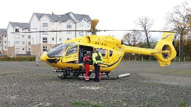 Air ambulance: Medics were flown to scene.