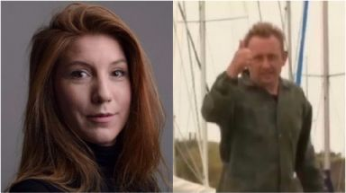 Journalist Kim Wall and inventor Peter Madsen.