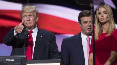 President Trump with Manafort, who was fired as his campaign chairman in August.