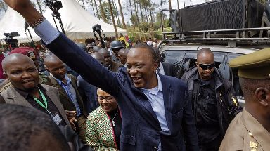 Uhuru Kenyatta has been declared the presidential winner.