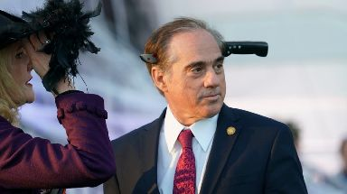 Veterans Affairs Secretary David Shulkin took a minimalist approach to his costume.