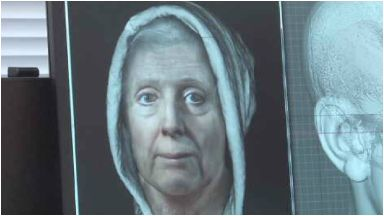 Reconstructed: Witch who died in 1704.