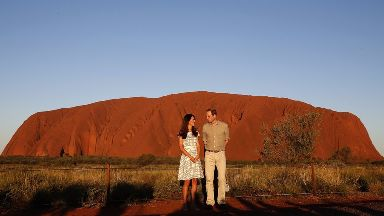 Prince William and wife Kate visited the rock during a tour of Australia in 2014.