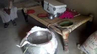 A large pot used to make lassi.