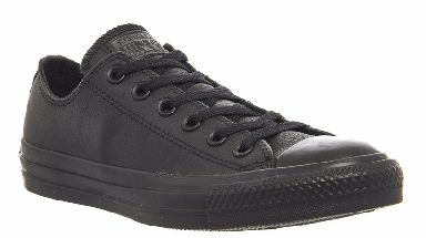 Black leather Converse footwear are not allowed at the school.