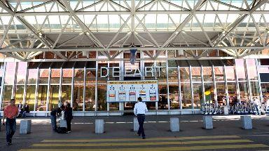 The incident happened at Geneva Airport in Switzerland.