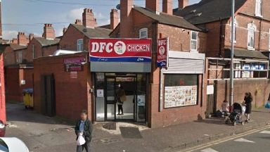The man allegedly targeted DFC Chicken in Birmingham.