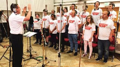 The choir recorded at the world famous Abbey Road studios.
