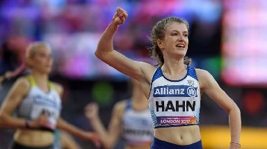 Paralympian Sophie Hahn was criticised by Olivia Breen's father.