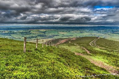 Moody skies over Tinto hill in South Lanarkshire.