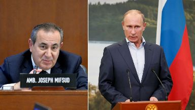 Russia: Professor Joseph Mifsud told Stirling University he had met Vladimir Putin.