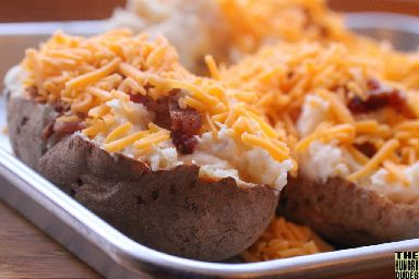 Baked potatoes are often roasted in the embers of the bonfire.