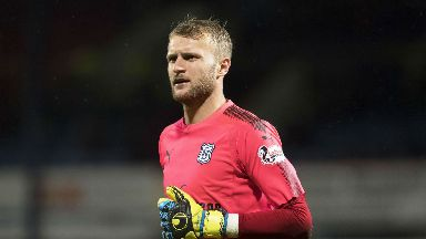 Scott Bain did not feature against Hibs on Saturday.