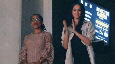 Meghan with her mother Doria Radlan.