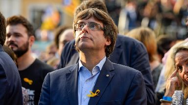Carles Puigdemont has handed himself in.