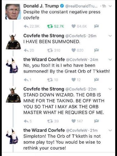 Covfefe dispute