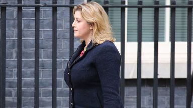 Penny Mordaunt arrived for her meeting with Theresa May on Friday afternoon.