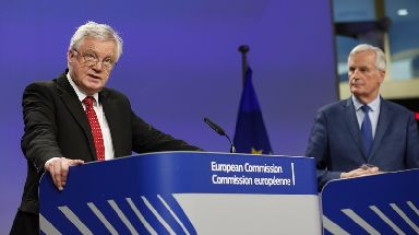 Brexit: David Davis (left) called for 'flexibility and pragmatism'.
