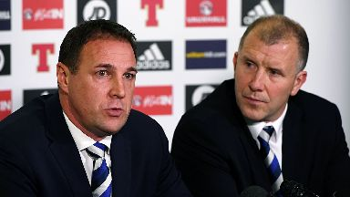 Reform: Malky Mackay, left, is looking to improve player development.