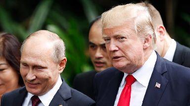 Putin and Trump appeared on good terms during the economic summit in Vietnam.