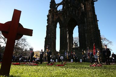 Edinburgh: Wreaths were laid in the Garden of Remembrance.
