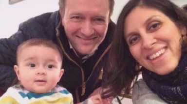 Nazanin Zaghari-Ratcliffe, her husband Richard and her daughter Gabriella.