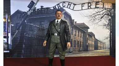 The Hitler waxwork at the De Mata Trick Eye Museum which has now been removed.