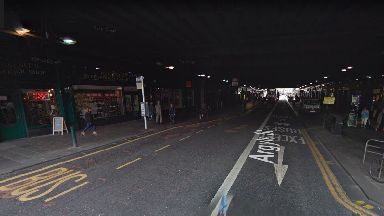 Attacked: The teen was injured at the shop near Glasgow Central.