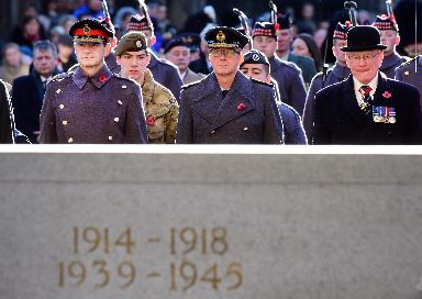 Remembrance: Past and present members of the armed forces paid a poignant tribute to the fallen.