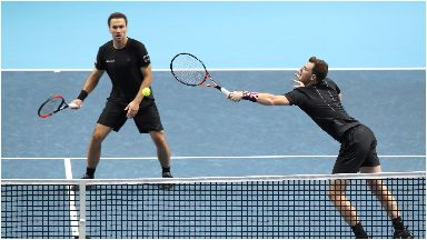 Doubles dismay: Bruno Soares and Jamie Murray came up short.