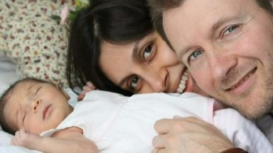 Prisoner: Nazanin Zaghari-Ratcliffe with her husband Richard and daughter Gabriella.