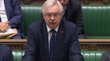 Brexit Secretary David Davis speaks in the House of Commons.