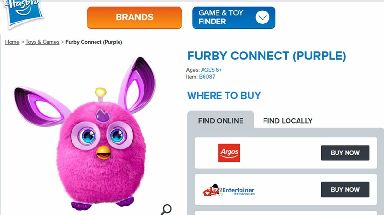 The Furby Connect toy.