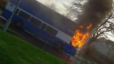 Carluke: Youngsters forced to run outside high school.