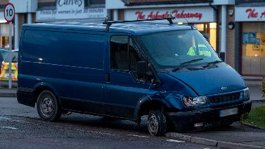 Van: Vehicle stopped in Portlethen.
