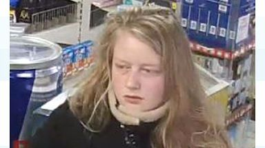 CCTV shows Gaia at a petrol station near Swanage on the afternoon she went missing