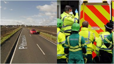 A917: Motorcyclist remains in hospital.