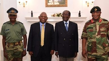 Robert Mugabe met with military officials on Thursday.