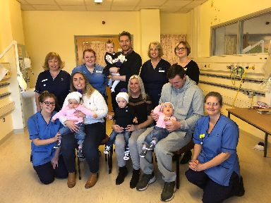 Babies and staff mark World Prematurity Day in Glasgow.