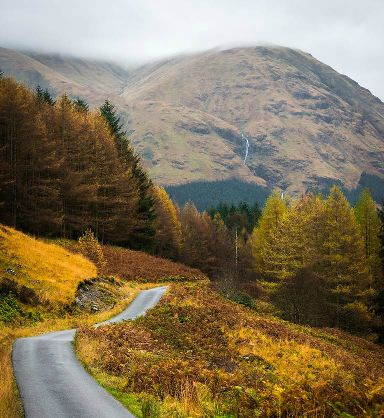 Golden path from Glen Etive.