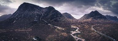 Buachaille Etive Mor by drone.