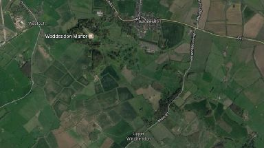 The crash happened near the village of Waddesdon.