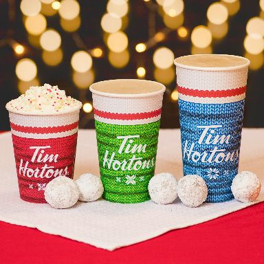 The Canadian coffee chain has drawn inspiration from knitted socks.
