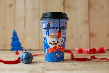 Caffe Nero's cheerful cup was designed by Rose Blake.