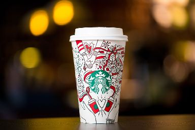 Starbucks unveiled its first colour-in design in 2017.